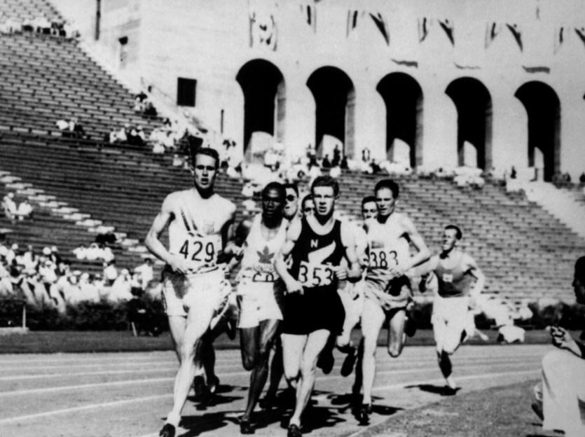 Des coureurs lors des Jeux de Los Angeles en 1932.