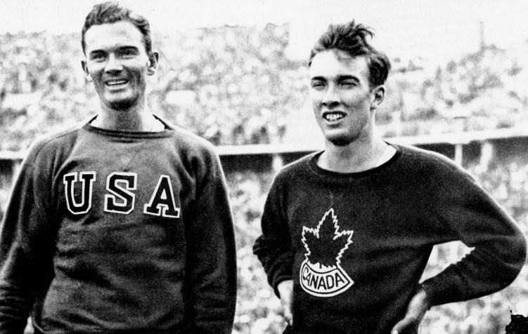 John Loaring du Canada (droite) participe aux Jeux olympiques de Berlin de 1936, où il décrocha l'argent au 400 m haies. (Photo PC/AOC)