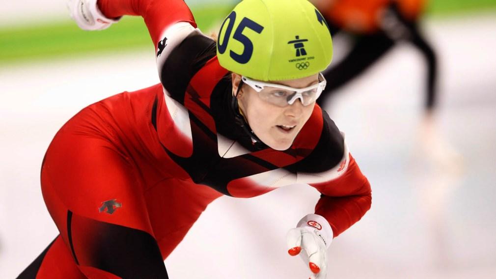 Jessica Gregg en action sur la patinoire