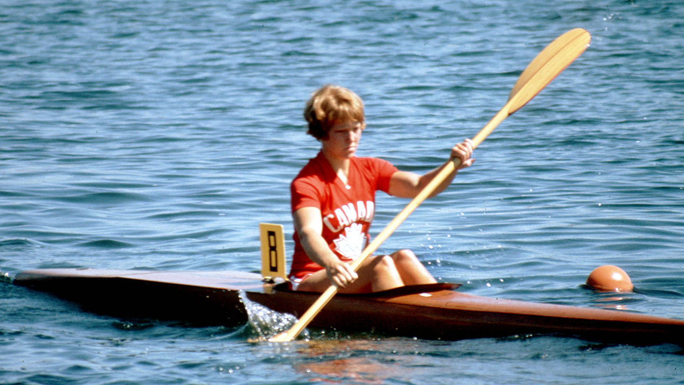 Sue Holloway dans son kayak.