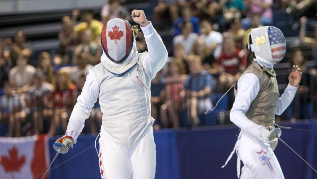 Équipe Canada Kelleigh Ryan Escrime Toronto 2015
