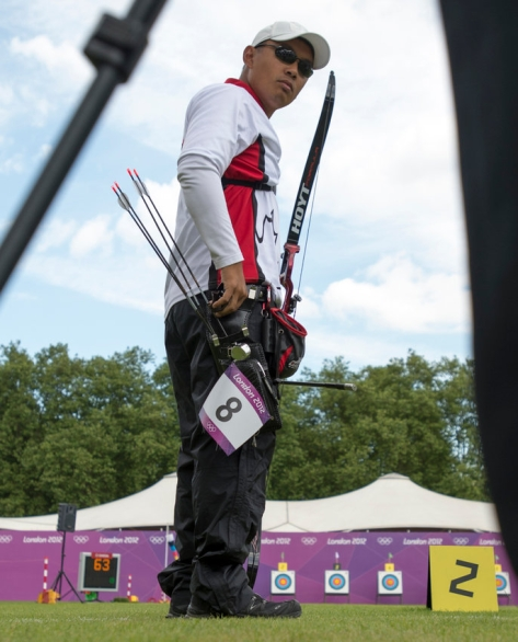 Crispin lors des Jeux olympiques de Londres en 2012.