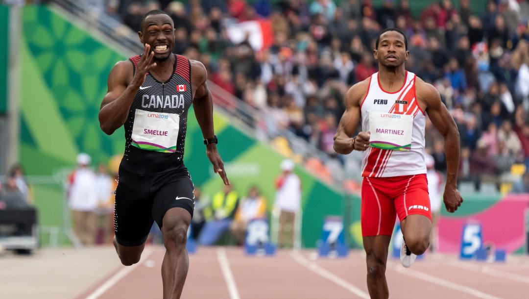 Deux sprinteurs en action