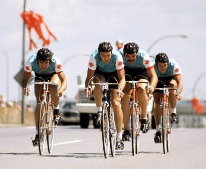 L'équipe masculine de cyclisme