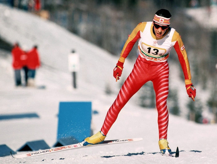 Pierre Harvey en ski de fond