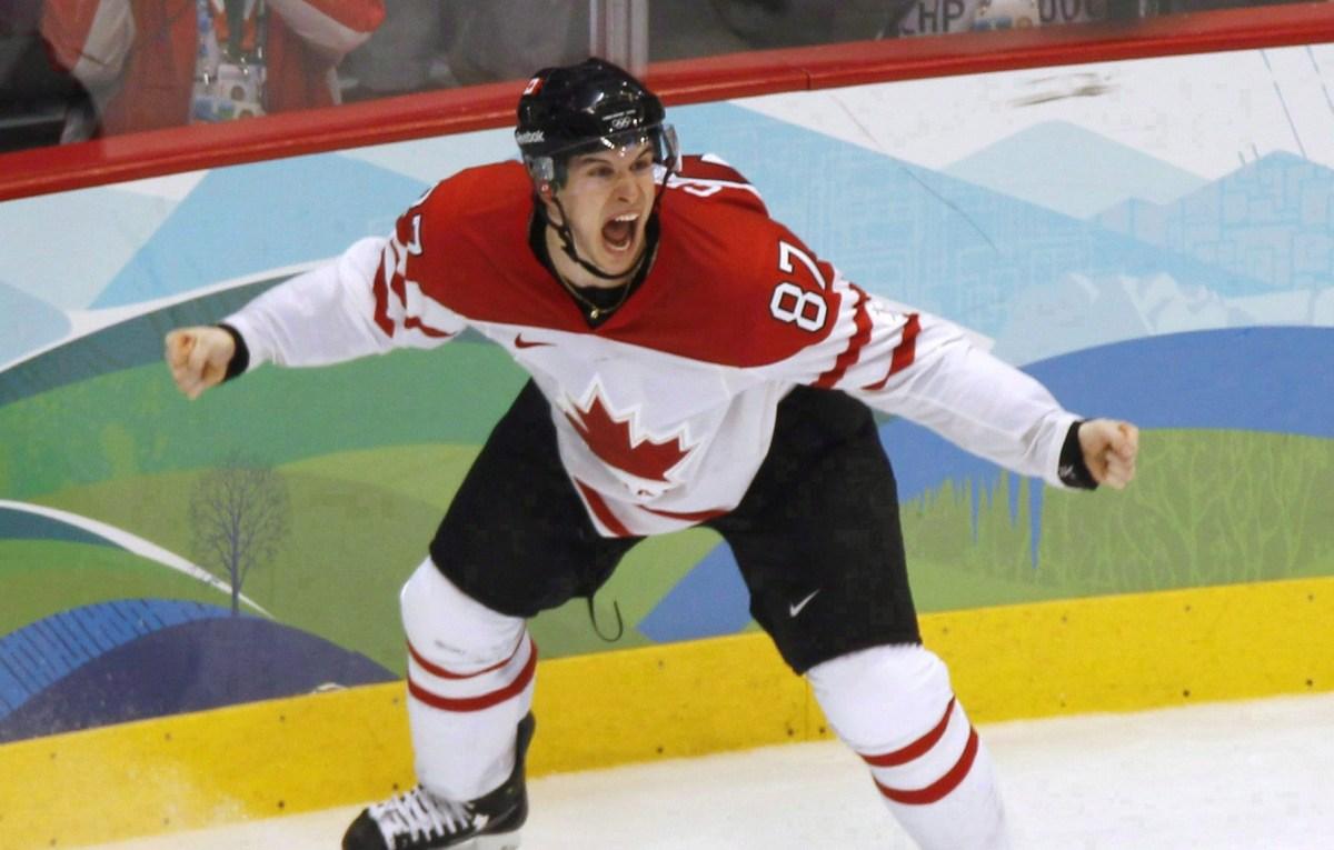 Sidney Crosby célèbre le Golden Goal