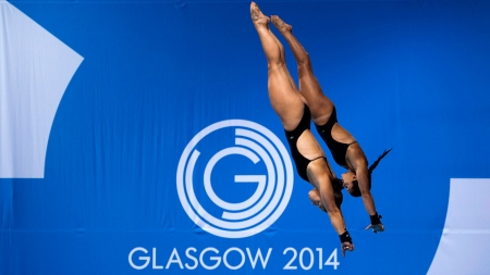 Meaghan Benfeito & Roseline Filion plonge vers l'or au 10m synchronisé à Glasgow.
