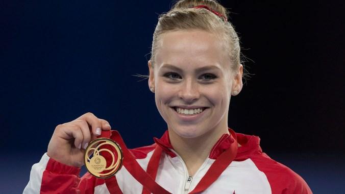 La gymnaste Ellie Black a remporté trois médaille à Glasow, une de chaque couleur.