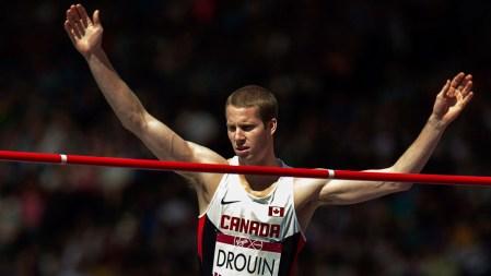 Derek Drouin s'est emparé du titre de saut en hauteur avec facilité.