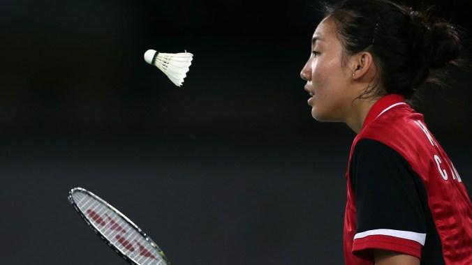 Michelle Li a remporté l'or en badminton à Glasgow.