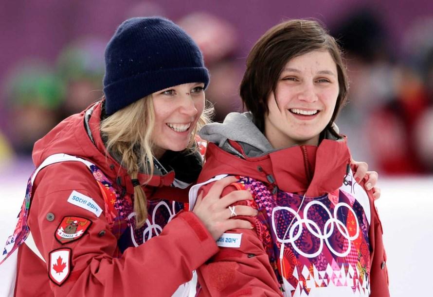 Dara Howell (G) et Kim Lamarre