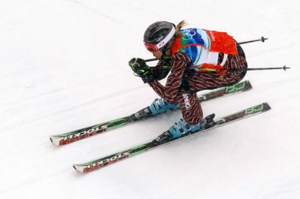 Plan rapproché de McIvor en ski cross