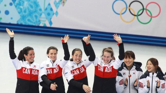 Marie-Ève Drolet, Jessica Hewitt, Marianne St-Gelais, Valérie Maltais
