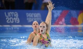 Claudia Holzner et Jacqueline Simoneau lors de leur duo à Lima