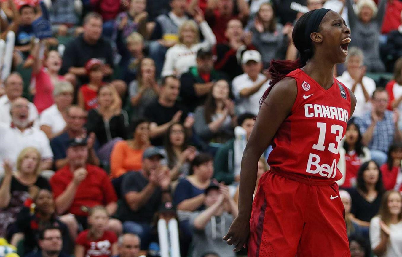 Tamara Tatham a la finale du Championnat des Amériques. (Photo: FIBA)