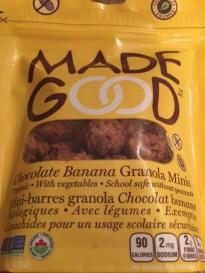 Bouchées de granola en collation pour l'avion