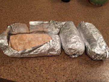 Burritos à la patate douce, au tofu et au tempeh, congelés, à conserver au réfrigérateur une fois au Japon pour une consommation à l'heure du souper