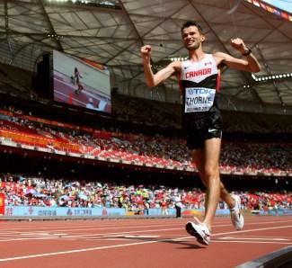 Benjamin Thorne - bronze au 20 km marche rapide, Beijing (Chine), le 23 août 2015. (AP Photo/David J. Phillip)