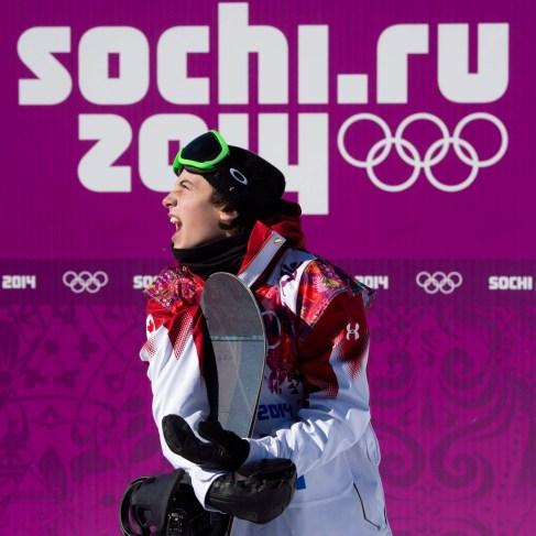 Mark McMorris tout juste avant d'apprendre qu'il était le premier médaillé canadien des Jeux olympiques de 2014 à Sotchi.