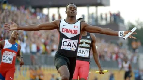 Aaron Brown aux Jeux panaméricains de Toronto en 2015