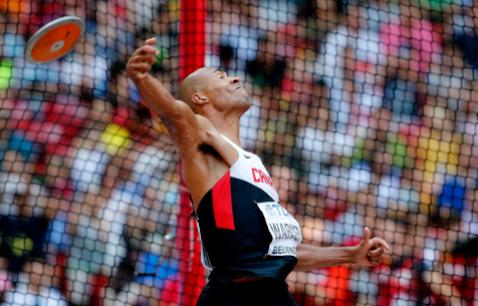 Warner au lancé du disque au Championnat d'athlétisme de Chine