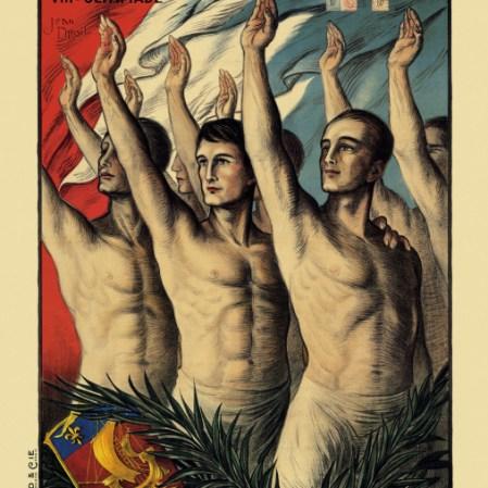L'affiche officielle des Jeux de Paris 1924.
