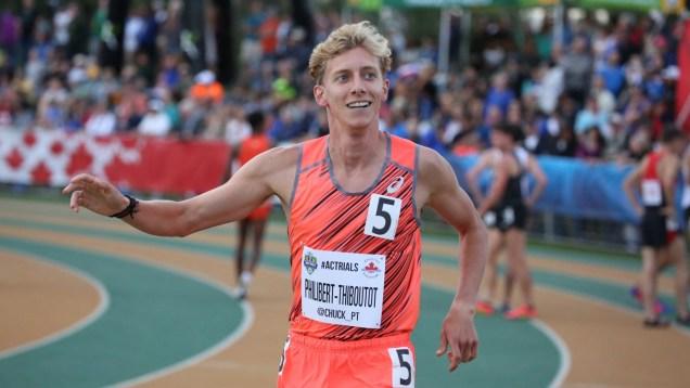 Charles Philibert-Thiboutot aux Essais olympiques d'Athlétisme Canada, le 9 juillet 2016.