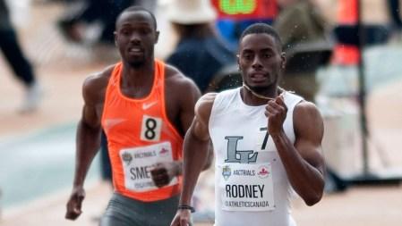 Brendon Rodney lors des Essais olympiques d'Athlétisme Canada, le 10 juillet 2016.