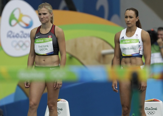 Equipe Canada - heptathlon - Brianne Theisen-Eaton - Jessica Ennis-Hill - Rio 2016