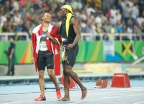 Andre de Grasse en bronze à l'épreuve du 100 m lors des Jeux olympiques de 2016, à Rio. Photo : COC