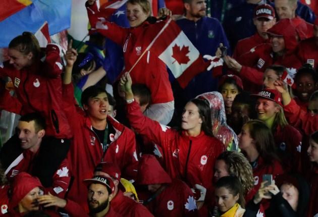 Équipe Canada lors de la cérémonie de clôture aux Jeux de 2016, à Rio. Photo : COC.