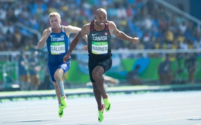 Damian Warner, décathlon aux Jeux de 2016, à Rio. COC Photo by Stephen Hosier