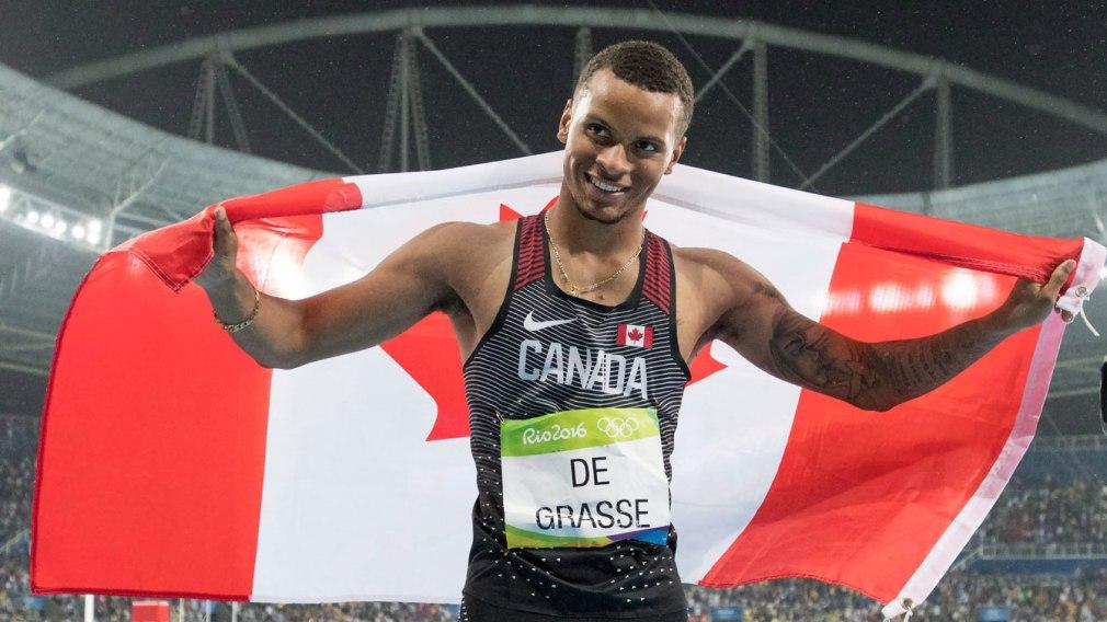 Andre De Grasse rafle l'argent sur 200 m
