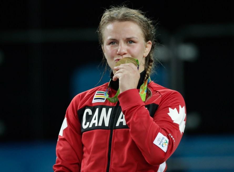 Erica Wiebe a été dominante jeudi chez les moins de 75 kg (COC David Jackson).