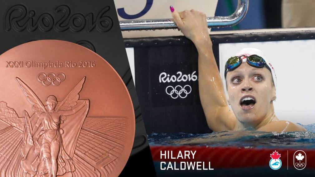 Rio 2016 : Hilary Caldwell rafle le bronze au 200 m dos