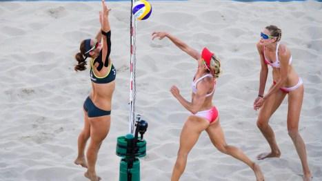 Heather Bansley et Sarah Pavanen action à Rio 2016