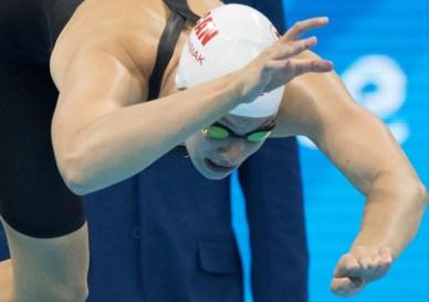 Penny Oleksiak, Rio 2016. 10 août 2016. Photo du COC/Jason Ransom.