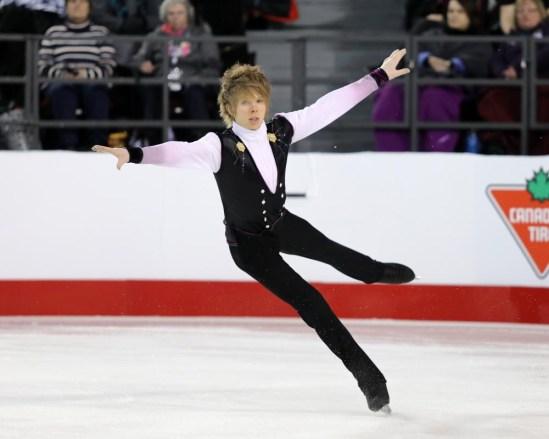 Kevin Reynolds aux Championnats canadiens, le 21 janvier 2017 (Photo : Greg Kolz)