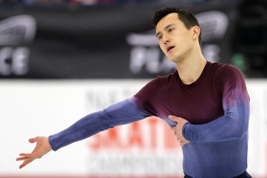 Patrick Chan aux Championnats canadiens, le 21 janvier 2017 (Photo : Greg Kolz)