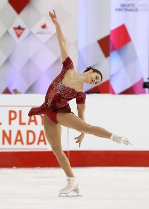 Kaetlyn Osmond aux Championnats canadiens, le 21 janvier 2017 (Photo : Greg Kolz)