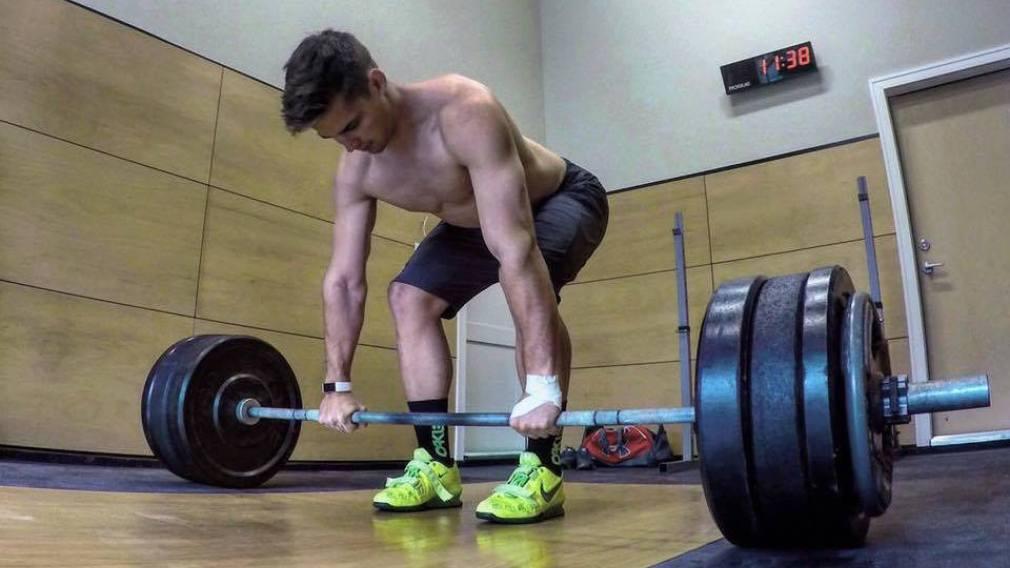 Équipe Canada à l'entrainement: les poids