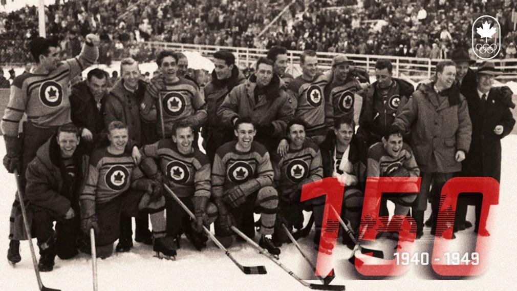 150 ans de sport canadien: Les années 40