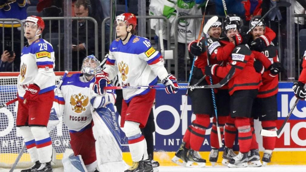 Mondial de hockey: Le Canada revient de l'arrière contre la Russie et passe en finale