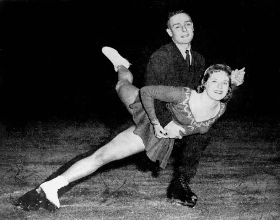 Les patineurs Barbara Wagner et Robert Paul participent à l'épreuve couple aux Jeux olympiques d'hiver de Squaw Valley de 1960. (Photo PC/AOC)