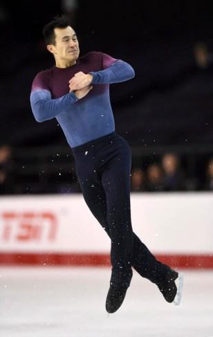 Patrick Chan lors des championnats canadiens de patinage artistique à Ottawa, en Ontario, le 21 janvier 2017. (Sean Kilpatrick / The Canadian Press via AP, File)