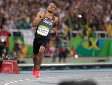 Andre De Grasse a donné du fil à retorde au triple champion olympique du 100 m Usain Bolt à Rio 2016.