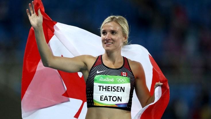 Brianne Theisen-Eaton remporte le bronze à l'épreuve d'heptathlon à Rio.