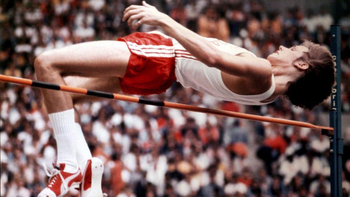 Greg Joy en action au saut en hauteur