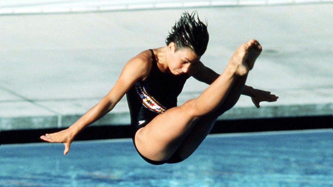 Sylvie Bernier aux Jeux olympiques de Los Angeles en 1984. (Photo PC/AOC)