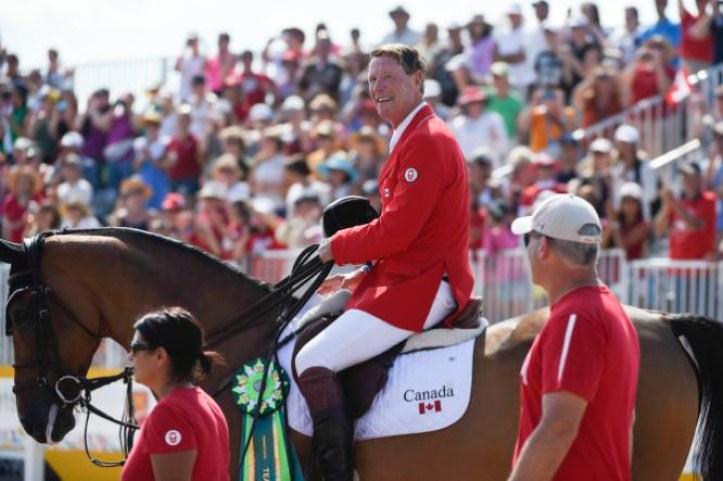 Ian Millar lors des Jeux panaméricain de Toronto 2015. (Photo : Jason Ransom/COC)